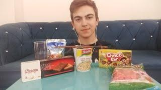 Asmr JUNK FOOD Kemal Can*INTENSE CRUNCHY FOOD SOUNDS* NO TALKING NOODLE CAPRİSUNCHOCOBOY