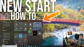 How to get the NEW START MENU on Windows 10 version 2004