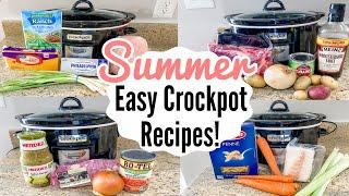 5 DUMP & GO CROCKPOT DINNERS | TASTY SLOW COOKER RECIPES | QUICK EASY MEAL IDEAS | JULIA PACHECO