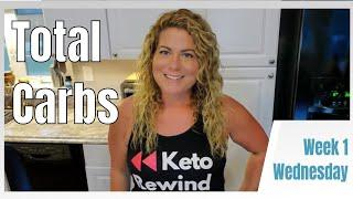 Keto Rewind TOTAL CARB Challenge Week 1 Wednesday - Easy Keto Recipes - Tracking Total Carbs