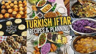 Turkish Iftar Menu For Crowds / Kebab & Veggies, Dessert, Side dishes and more.