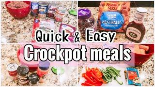 DUMP & GO CROCKPOT MEALS FOR BUSY MOMS/WHAT'S FOR DINNER/EASY SLOW COOKER MEALS