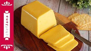 SMOKED CHEDDAR CHEESE USING A LEGUME THAT TASTES LIKE CHEESE! NO NUTRITIONAL YEAST⎜NO SOY⎜NO NUTS⎜GF