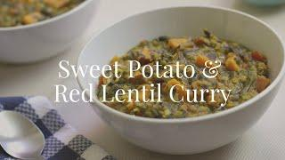 Easy Vegan Red Lentil Curry with Sweet Potatoes | One Pot Vegan Recipe