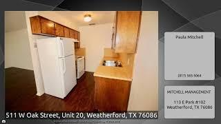 511 W Oak Street, Unit 20, Weatherford, TX 76086
