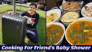 Achanak Se Khah Jana Pad Raha Hai Hume~Cooking For Friend Baby Shower Party~Indian Family in Chicago