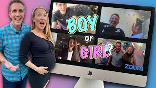 Virtual Gender Reveal Party at Home