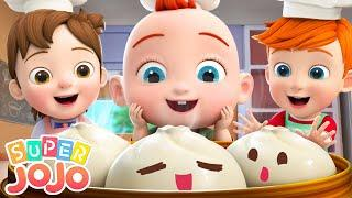 Steamed Buns Song | Make Food | Recipe Song for Kids + More Nursery Rhymes & Kids Songs - Super JoJo