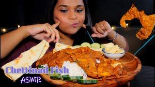 Chettinad fish curry + rice - Indian food Mukbang-  Eating with hand- CHEWIING Sounds-TaTa ASMR
