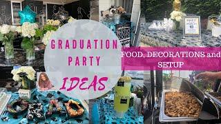 Graduation Party Ideas | PARTY PICTURES of Decorations, Food and Setup!