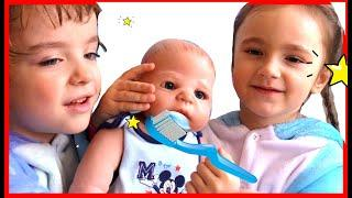 Brush your teeth with a doll Song for kids by Makar