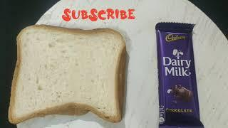 5 minutes quick easy and tasty evening snack recipe with Cadbury diary milk and bread | spencers