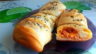 Рулетики с куриной грудкой и сыром  в  духовке. Rolls with chicken breast and cheese in the oven.