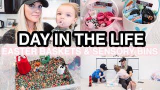 REAL DAY IN THE LIFE OF A STAY AT HOME MOM OF 2 | TODDLER EASTER BASKETS 2020 | Amanda Little