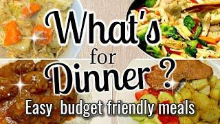 WHAT'S FOR DINNER | EASY BUDGET FRIENDLY MEALS | COOK WITH ME