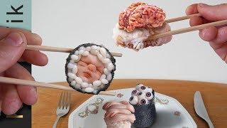 Eating weird looking SUSHI with ORGANS!