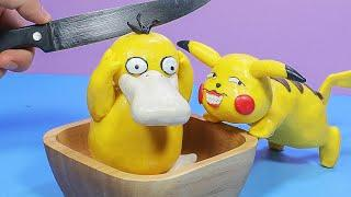 Stop Motion Cooking - Making Pikachu's Doping Meal From Pokemon Funny Animation ASMR 4K