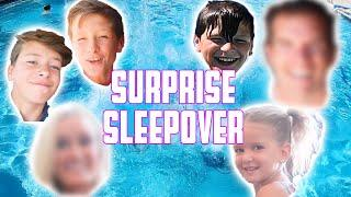 SURPRISE SLEEP OVER AND POOL PARTY | EPIC BACKFLOP