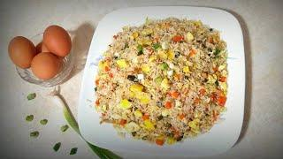 Simple Egg Fried Rice||Egg fried rice Chinese style ||Egg fried rice recipe with english subtitles