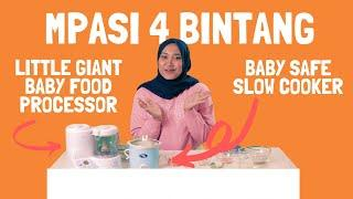 RESEP MPASI MENU 4 BINTANG SEKALIAN REVIEW LITTLE GIANT FOOD PROCESSOR DAN BABY SAFE SLOW COOKER