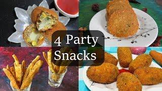 4 party snacks|feel the food