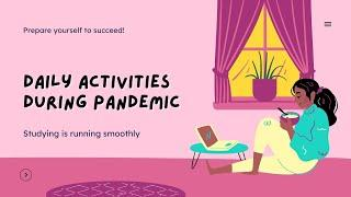Daily activities during pandemic | English Club activity