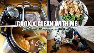 COOK + CLEAN WITH ME | FIRST TIME USING MY INSTANT POT! WHAT A HOT MESS! MOM LIFE 2019
