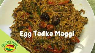 Simple and Tasty Egg Maggi Noodles | egg tadka maggi recipe | Epic Bong Kitchen | #StayAtHome