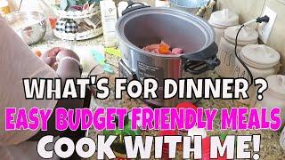 *4 EASY AND SIMPLE MEAL IDEAS | WHAT'S FOR DINNER | BUDGET FRIENDLY MEALS | MAMA MAKES IT HAPPEN