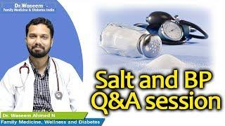Salt and BP - Q&A session | Dr Waseem | English Health Tips