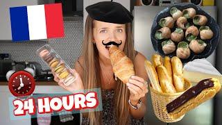 I ATE ONLY FRENCH FOOD FOR 24 HOURS!
