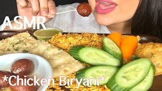 ASMR EATING CHICKEN BIRYANI (EATING SOUNDS) Indian Food *MUKBANG SHOW*