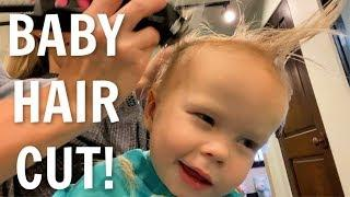 Baby reacts to haircut!