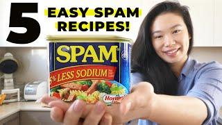 5 EASY SPAM RECIPES - TASTY SPAM COOKING HACK! (How To Make 5 Meals with 1 Can of Spam)