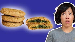 Cookies ✨ Turn GREEN When Baked - No Food Coloring | Sunbutter Cookies