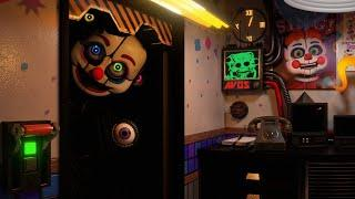 THIS ANIMATRONIC IS BIGGER THAN THE DOORWAY... TERRIFYING! | Circus Baby's Diner
