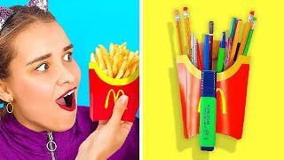 READY FOR SCHOOL? || Awesome School Hacks And DIYs by 123 Go! Live