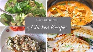 4 EASY CHICKEN RECIPES|COOKING MADE EASY|